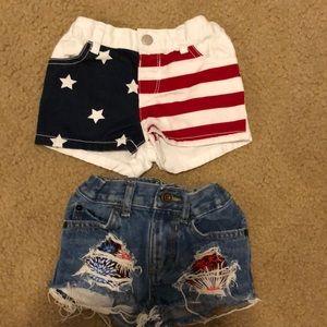 ❗️BOGO 1/2 off ❗️ 4th of July jean short bundle